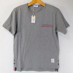 THOM BROWNE Short Sleeve Pocket T Shirt Grey 0 NWT